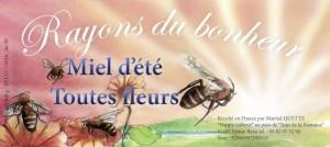 Affichette pot de miel