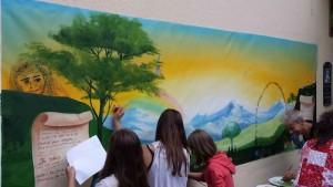 Fresque participative pour Festival pour la paix   Suisse