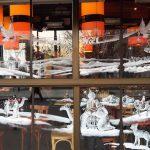 décor vitrine- Brasserie des écoles