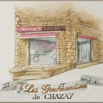 "Watercolor for Bakery ""Les Gourmandises de Chazay"" Chazay d'Azergues"